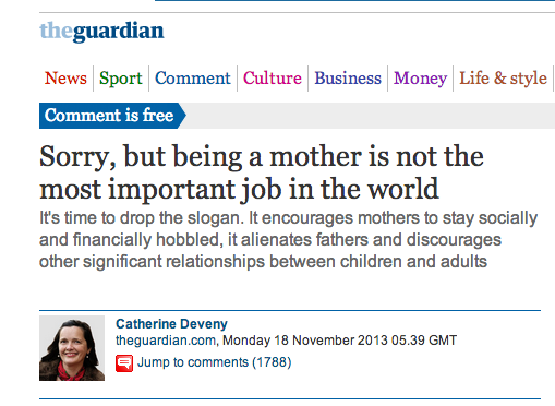 Catherine Deveny >> Sorry, but being a blogger for The Guardian is the most important job in the world - Dr. Matt